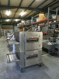 Lincoln Impinger Double Stack Pizza Conveyor Ovens 1000 Hp high Output
