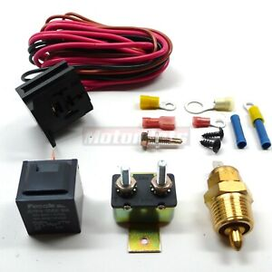 Electric Fan Wiring Install Kit Complete Thermostat 50amp Relay 200 On 185 Off