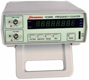 Sinometer Vc2000 8 digits Bench Frequency Counter With Ac Power Cable Bnc Test