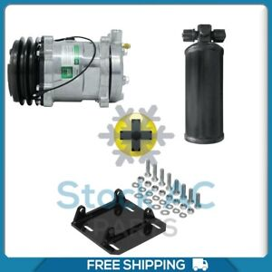New Ac Compressor With York To Sanden Mount And Universal Reciever Qc