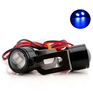 2x Blue Led Strobe Flash Motorcycle Atv Drl Warning Spotlight Headlight Lamp 12v