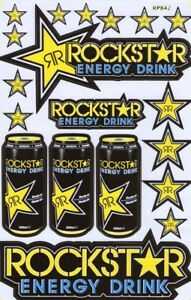 New Rockstar Energy Motocross Racing Graphic Stickers decals Sheet st71
