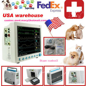 2018 New Cms8000 vet Vital Signs Veterinary Patient Monitor 6 Arameters Ce Conte
