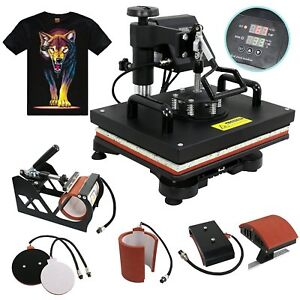 Large Transfer Sublimation T shirt Mug Hat Plate Heat Press Printing Machine