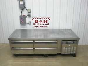 Continental 4 Drawer Chef Base Equipment Griddle Stand Prep Refrigerator Dl2g ss