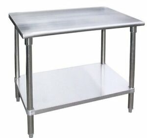 Work Table With 4 Casters Wheels Stainless Steel Food Prep Worktable 18 X 24