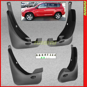 Splash Guards Front Rear For 2006 2012 Toyota Rav4 Mud Flaps Pair Complete
