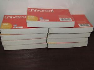 9pks Of Universal Ruled Index Cards 3 X 5 100 Count Unv47210 1c