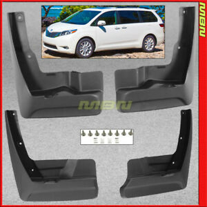 Splash Guards Front Rear For 2011 2017 Toyota Sienna Mud Flaps Pair Full Set