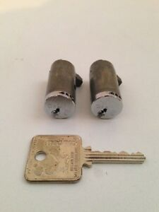 Lot Of 2 New Without Packaging Medeco 64s Lock Cylinders W 1 Key Keyed Alike