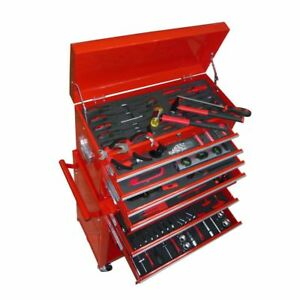 Vidaxl Tool Chest Cabinet Box Trolley 7 Drawers Red Roller Unit Toolbox W Tools