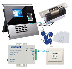 Backup Battery Biometric Fingerprint Access Control System Kit Ansi Strike Lock