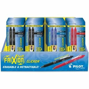 Pilot Frixion Clicker Retractable Erasable Gel Pens Fine Point Assorted Color
