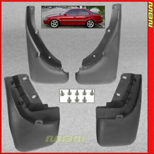 Splash Guards Front Rear For 1988 1992 Toyota Corolla Mud Flaps Full Set