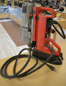Milwaukee 4203 Electromagnetic Drill Press W 4297 1 Drill Motor 1 1 4hp