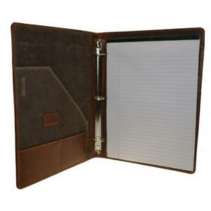 Leather Three Ring Binder
