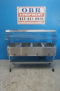 New Eagle Group Electric Steam Table Four Open Wells Pan Model Pdht4 120