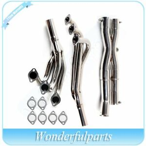 For Bmw E30 3 series 86 91 M20 2 5 2 7l Stainless Header Manifold y pipe Exhaust