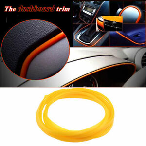 5m Flexible Trim Moulding Strip Decorative Line Car Suv Interior Exterior Yellow
