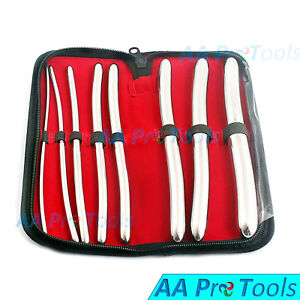 8 Piece Dilator Set With Pouch Hegar Sounds Dilator Set Stainless Steel