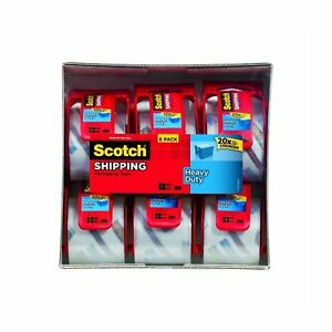 Scotch Heavy Duty Packaging Tape 2 Inches X 800 Inches 12 Rolls