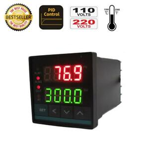 Universal Pid Temperature Controller W Ssr Output 2 Alarms In Or 48 48