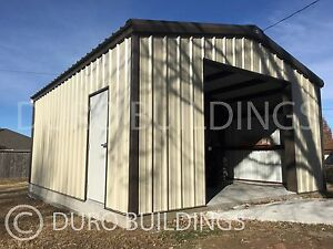 Durobeam Steel 24x30x12pr Metal Prefab Garage Workshop Diy Building Kits Direct