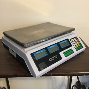 Flexzion Digital Weight Scale 60lb 30kg electrical Computing Retail Equipment