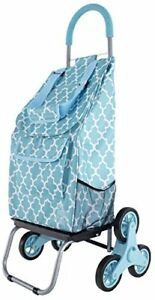 Trolley Dolly Stair Climber Morrocan Tile Grocery Foldable Cart Condo Apartment