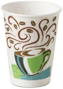 Dixie Disposable Coffee Cups Set 500 Insulated 12oz Paper Sleeves Hot Liquids