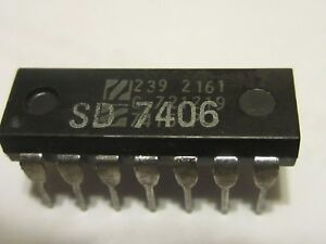 National Semiconductor Sd7404 remark Double Strike 1974 Rare Collectible Ic