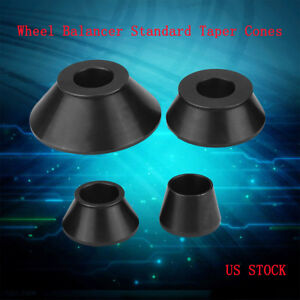4pcs Wheel Balancer Adapter Standard Taper Cone Kit For 40mm Shaft Coats Tool Us