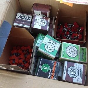 Ramset 22cw And Others Powder Loads Approx 25 Boxes Plus Pins