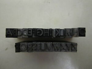 Vtg Lead Metal Letterpress Type Set Print Complete Spacers Symbols Incl J3