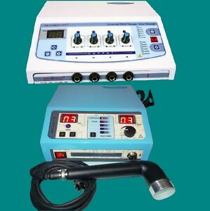 Portable Electrotherapy Ultrasound Therapy Multicurrent Stim Chiropractic Jfg