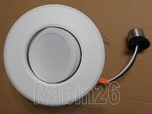 6 Recessed Can Down Light Dimmable Led Retrofit Kit Adjustable Gimbal White