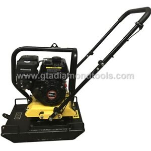 Plate Compactor Tamper Forward Speed Plate 23 x17 Weight 220lb 6 5hp