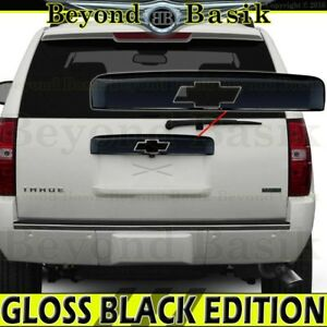 2007 2014 Chevy Tahoe Suburban Gloss Black Tailgate Liftgate Handle Cover Upper