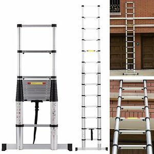 12 5ft En131 13 Step Profession Telescoping Extension Ladder Aluminum Telescopic