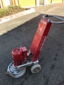 Scanmaskin Model 330 Concrete Edge Grinder And Polisher Goes Right To The Edge