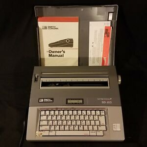 Smith Corona Sd 650 Electronic Memory Typewriter Barely Used In Mint Condition