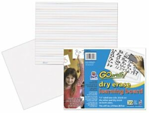 Gowrite Dry Erase Learning Sheets 3 4 X 3 8 X 1 4 Ruled 11 X 8 1 4 30 She