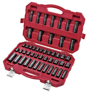 Craftsman 48 Piece Impact Socket Set Home Mechanic Hand Tools Storage Case