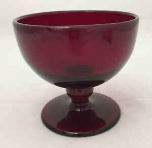 Gorgeous Unsigned Steuben Selenium Red Ruby Art Glass Blown Compote Footed Bowl