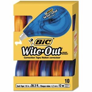 Wite out Ez Correct Correction Tape Non refillable 1 6 X 472 10 box Sold