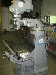 First Lc 1 1 2 Vs 2hp Variable Speed Vertical Turret Milling Mitutoyo 2 Axis Dro