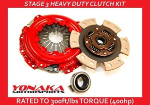 Yonaka Stage 3 Performance B Series Copper Ceramic Clutch Set Honda Civic 400hp