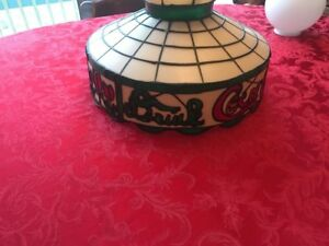 Drink Coca Cola Tiffany Style Stained Hanging Lamp Coke