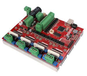 Cnc 4 Axis Usb Mach3 Stepper Motor Driver controller Interface Board Card 2 In 1