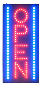 Led Open Sign 11 Inch X24 Inch Vertical Rectangle